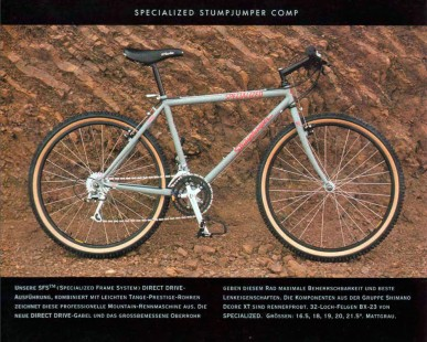 1991 Specialized Stumpjumper, Original Spec