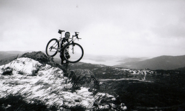 Snowstorm on Mt Mckay, early 1990's