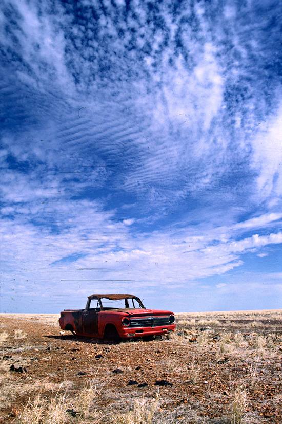 Rusty Holden Ute, Nothern Territory, Solo MTB Tour 1988