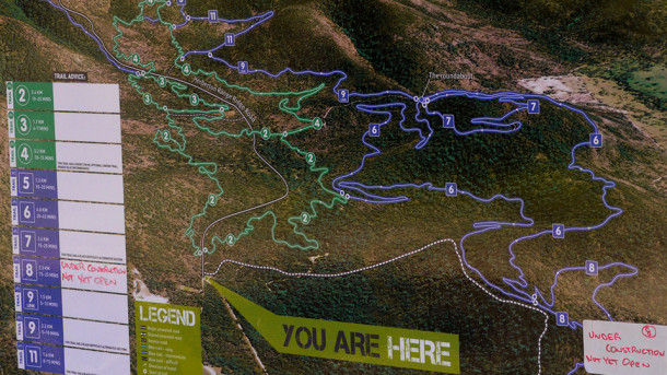 Atherton Forest MTB Park Trail Map