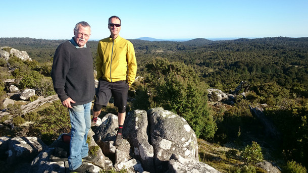 Looking out over Tassie from the top of Blue Tier